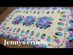 Passo a passo tapete lavanda por jennys crochê - YouTube Crochet Videos, Blanket, Rugs, Arts And Crafts, Diy And Crafts, Orange Kitchen, Craftsman Fabric, Rectangular Rugs, Crochet Throw Pattern