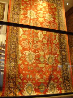 "Antique Zigler long carpet, 12'.6"" X 22', Circa: 1880."