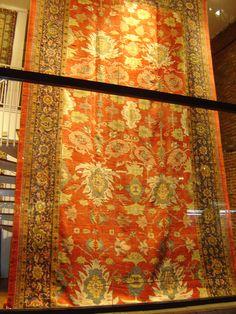 """Antique Zigler long carpet, 12'.6"""" X 22', Circa: 1880."""