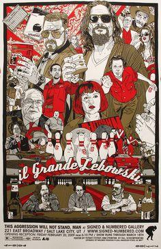 gran lebowski poster alternativo
