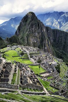 Machu Picchu, Inca temple, located in Peru, South America :)