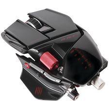 Mad Catz лоск черный крыса 9 оптическая мышь w/twin глаз лазерный датчик mcb4370900c2021