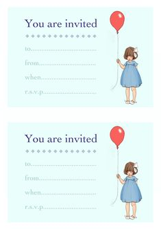 You can download these kid party invites for FREE!