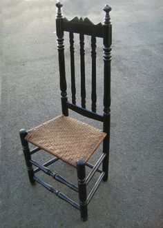 colonial banister back chair. c.1740