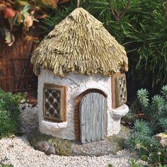 plastic bottle night light fairy house | Miniature Fairy Garden Fairy House Hut