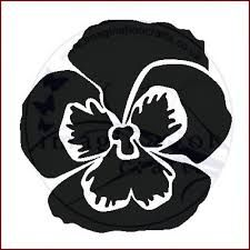 Pansy Flower Stencil Google Search In 2020 Pansies Flower Stencil Pansies Flowers