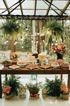 Rustic Dessert Tables Just In Time For Fall! Garden Wedding, Wedding Table, Summer Wedding, Rustic Wedding, Wedding Reception, Wedding Day, Wedding Blog, Wedding Buffet Food, Reception Food