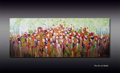 Original abstract Textured Acrylic painting on canvas by YueJinArt