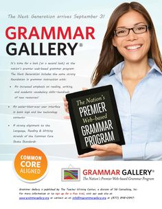 Educators can get a free trial of Grammar Gallery! Go to www.grammargalllery.org to sign up.