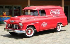 I always wanted one of these - a Chevy panel truck, not a Coke truck! Coca Cola Vintage, Coca Cola Ad, Always Coca Cola, World Of Coca Cola, Vw Vintage, Vintage Trucks, Vintage Ideas, Classic Trucks, Classic Cars