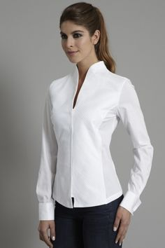 The Shirt Company | Stand Funnel Collar Women's Shirt and Blouse |