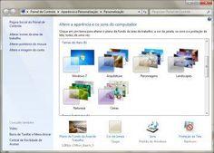Janela Personalização do Windows 7 http://www.blogpc.net.br/2012/05/transformar-fotos-tema-windows-7.html