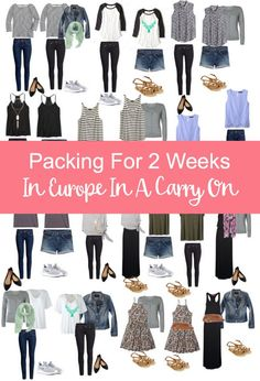 Packing for 2 weeks in Europe in a carry on only with Kristen from See You In A Porridge! Pieces and outfit examples included.