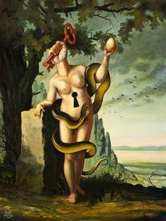 Pinturas surrealistas modernas óleo  Mike Davis 3