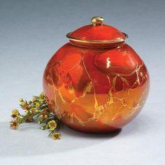 Chinese Red Orb Ceramic Cremation Urn Memorial Urns, Memorial Stones, Traditional Vases, Pet Cremation Urns, Pet Ashes, Keepsake Urns, Metallic Luster, Pet Urns, Pet Memorials