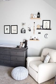 We love that this nursery has a touch of a few different trends - it's a little boho, a little woodland, a little monocrome and a little modern!