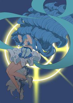 Blue Mermaid - Hanon Anime Mermaid, Mermaid Art, Sailor Moon, Manga Anime, Anime Art, Images Kawaii, My Little Pony Twilight, Mermaid Melody, Tokyo Mew Mew