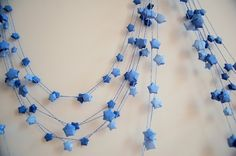 Origami garlands always look really effective, I love these little ...