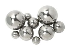 "CKI Abbott Steel Decorative Balls - Set of 9 2-2.75-3.75-4.75""""d"