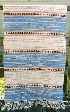 Vintage Swedish Rag Rug by parkandbeach on Etsy