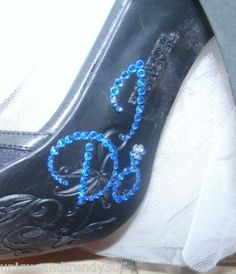 """Something blue for my shoes so I said """"I do"""" to this one!"""