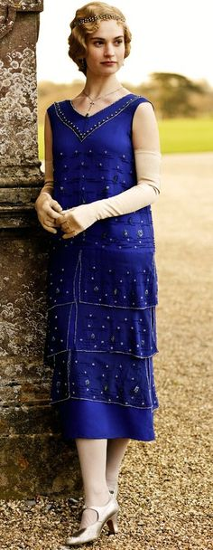 Lady Rose wearing diamond netted headband, diamond & emerald drop earrings, and emerald drop necklace.  Lovely!