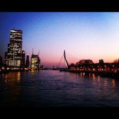 Rotterdam by Night Rotterdam, San Francisco Skyline, New York Skyline, Night, Places, Travel, Viajes, Trips, Traveling