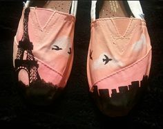Custom Paris TOMs shoes! Another sunset themed one! I will say it again never ends!!!! ☺️☺️☺️☺️