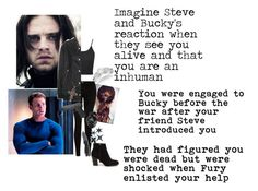 """""""Imagine Steve and Bucky's reaction when they see you alive and that you are an inhuman @alyssaclair-winchester"""" by mrsbcumberbatch ❤ liked on Polyvore featuring Allurez, Current/Elliott, Topshop, Acne Studios, Nly Shoes, Kershaw, MollaSpace, buckybarnes, steverogers and Avenger"""