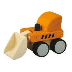 Scoop up everything from trinkets, sand to miniature plush with this charming wooden bulldozer!  Designed for kids 18m+, this bulldozer is easy to grip, move around, and makes an awesome click-clack sound too.