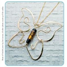 how to make a butterfly pendant using wire work techniques. Carolyn Baum
