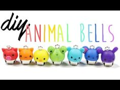 How to DIY Super Easy Cute Animal Bells Polymer Clay Tutorial ft. Polymer clay Amino - YouTube