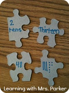 Learning With Mrs. Parker: Instant Math Center Using Puzzles