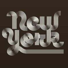 """New York"" by @trochut  #Goodtype #StrengthInLetters by goodtype"