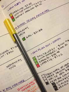How to Start a Bullet Journal: Weekly Log