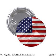 The Flag of the United States of America Button