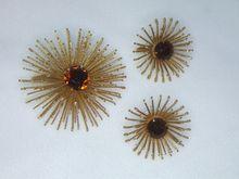 Golden Mum Brooch and Earrings 1966