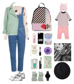 """""""Together forever with my baby boo"""" by mydlak-katarzyna on Polyvore featuring New Balance, Oasis, Narciso Rodriguez, Nailmatic, NOVICA, M.i.h Jeans, River Island, MAC Cosmetics, Lulu Guinness i CLUSE"""