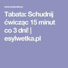 Tabata: Schudnij ćwicząc 15 minut co 3 dni!   esylwetka.pl