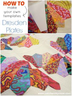dresden plate how to make your own template| patchworkposse | easy sewing projects and free quilt tutorials