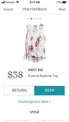 StitchFix 5/3/18... I like this! Looks like I might have missed the boat on this one, but it's adorable!