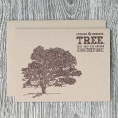 Hand-Drawn Oak Tree with John Muir Quote  by FAsInFrankPapergoods