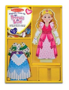 Princess Elise - Magnetic Dress Up Wooden Doll and Stand   FREE Melissa and Doug Scratch Art Mini-Pad Bundle [35538] -- Want to know more, click on the image.