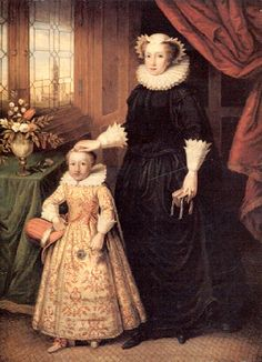 Margaret Douglas and her son Henry, future husband of Mary, Queen of Scots.