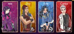 toyboyfan:  Disney Descendants Cartoony Game Characters