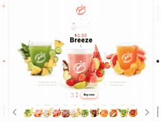 Animated Juice Store by Atukz Juice Store, Jamba Juice, Ui Animation, Web Inspiration, Ui Design, Watermelon, 3 D, Coconut, Ice Cream