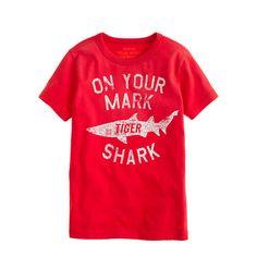 Boys tiger shark tee