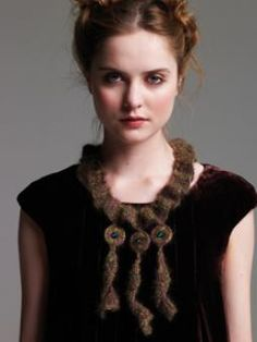 Mohair necklace