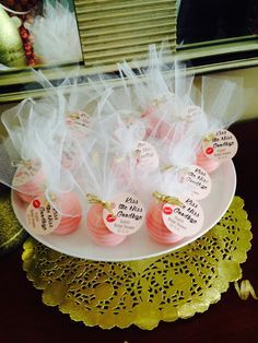 Kiss the Miss Goodbye Favor Tags Bridal Shower Custom