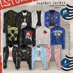 """jackie7sims:"""" plushxsims:"""" • PLUSH SS18 Menswear Collection •INFO:Salutttt~ I want to thank everyone for 6k even though I never post. I made some more casual clothing for your male simmies. The leather jacket comes in two versions a normal and..."""
